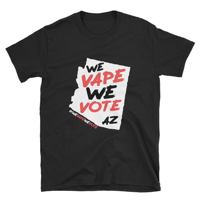 WE VAPE WE VOTE AZ Short-Sleeve Unisex T-Shirt - DARK - Known Distro