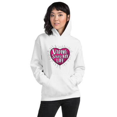 SAVED MY LIFE HEART Hoodie - LIGHT COLORS