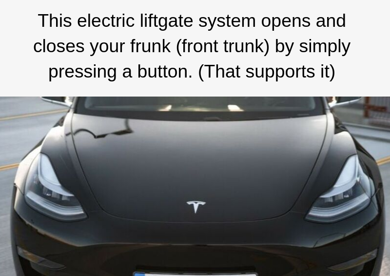 TESLA MODEL 3 ELECTRIC FRUNK GATE