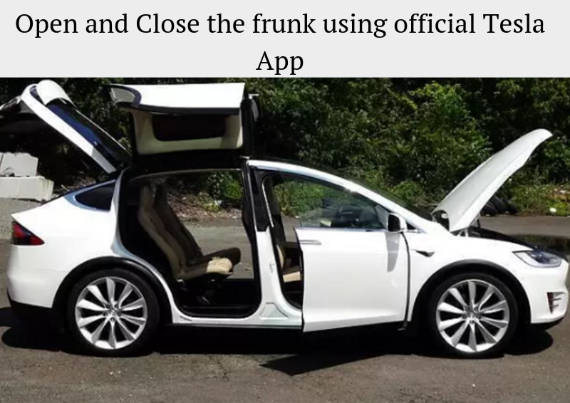 TESLA MODEL X ELECTRIC FRUNK