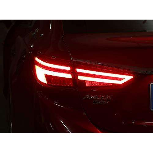 MAZDA 3 Axela Sedan LED Strip Tail Lamps 2013-2018 Red Clear