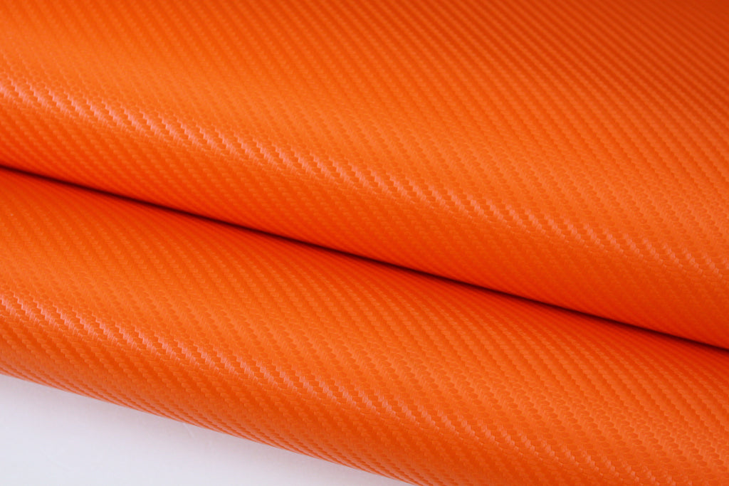 ORANGE CARBON FIBER WRAP 3D