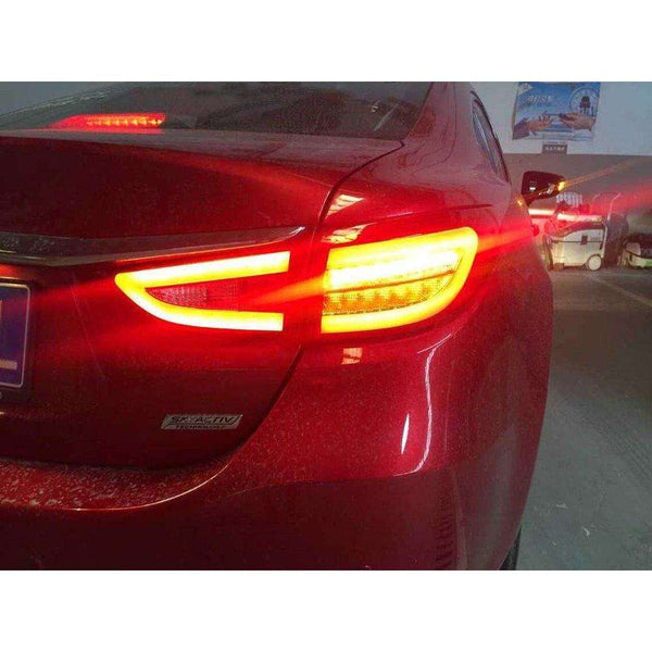 MAZDA 6 ATENZA LED Taillights 2013-2017 Red Clear
