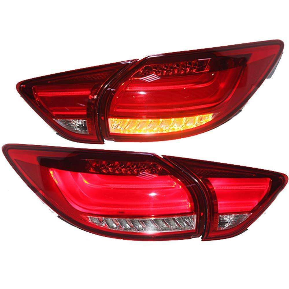 MAZDA CX 5 LED BMW Style Red Clear Taillights 2012-2017