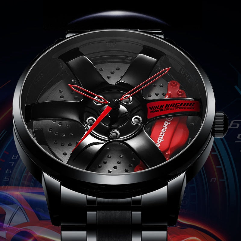 Men Car Rim Watches