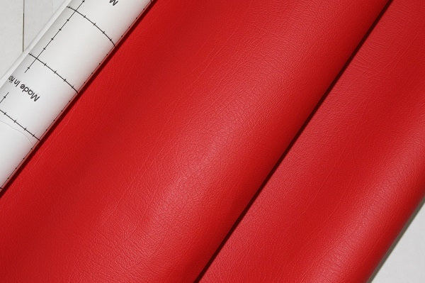 Dashboard Adhesive Faux leather Vinyl Fabric Red