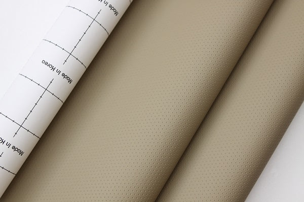 Dashboard Adhesive Faux leather Vinyl Fabric Punched Hole Beige