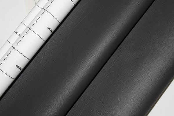 Adhesive Eco Leather - Black Dark Grey