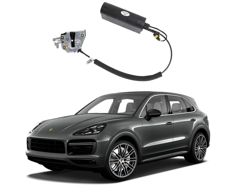 porsche cayenne soft close door