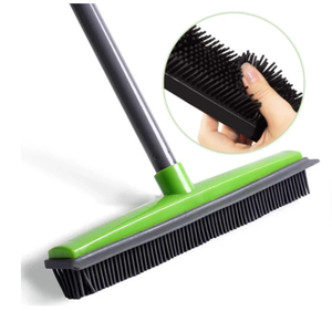 Long push rubber broom cleaner (2020 Upgraded)