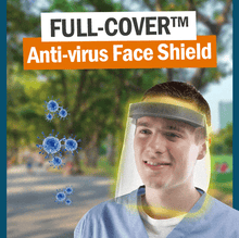 Load image into Gallery viewer, Full-cover anti-droplets face shield
