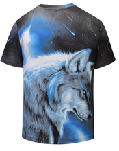 Load image into Gallery viewer, Cool Creative Starry Wolf T-Shirt - New Wolves - unique & trendy stuff
