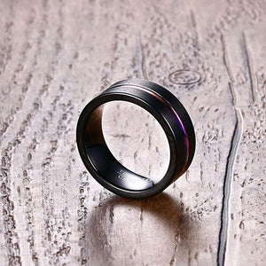 Men Women Black 316L Stainless Steel Matte Ring - New Wolves - unique & trendy stuff