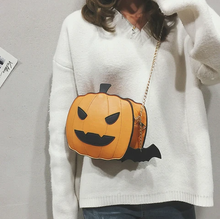 Load image into Gallery viewer, Halloween pumpkin handbag
