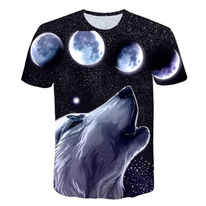 Wolf Style - Cool Funny T-Shirt Men Short Sleeve - Summer