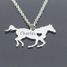 Load image into Gallery viewer, Personalized Horse Necklace