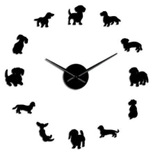 Load image into Gallery viewer, DACHSHUND WALL CLOCK