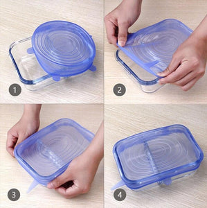 6 Pcs Reusable food storage cover