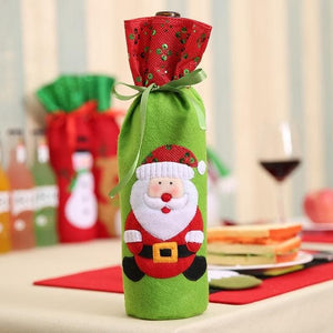 Christmas Wine Bottle Dust Cover