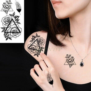Waterproof Temporary Tattoo Fox Wolf And Others - For Girl And Boy