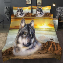 Load image into Gallery viewer, 3D Wolf Bedding Set - Beautiful colors