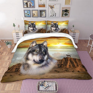3D Wolf Bedding Set - Beautiful colors