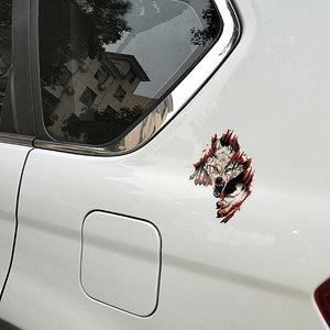Angry Wolves PVC Motorcycle Car Sticker - 10.6CM*15.2CM