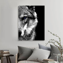 Load image into Gallery viewer, Wall Art Picture - Wolf Face - Painting Scandinavian Modern Home Room Decoration