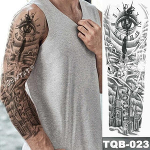 Large Arm Sleeve Wolf Tattoo (And Others animals) - Waterproof Temporary Tatoo