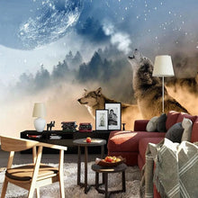 Load image into Gallery viewer, Custom 3D Wallpaper Wolf - Background Wall Paintings - Beautiful Style