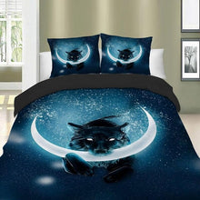 Load image into Gallery viewer, Wolf Bedding Set - 3D Effect - Moon Style