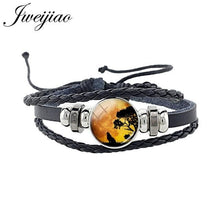 Load image into Gallery viewer, Fashion Wolf Bracelet Glass Cabochon Charm Unisex