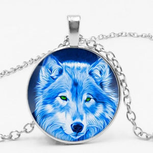 Fashion Vintage Nordic Witchcraft Wolf Chain Pendant
