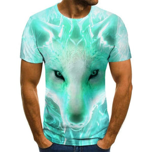 Wolf T-Shirt Short Sleeve - For Boy/girl/kids - Funny Colors