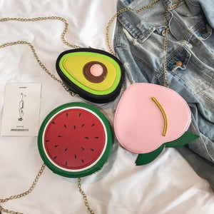 Peach/Watermelon/Avocado Shoulder Bag