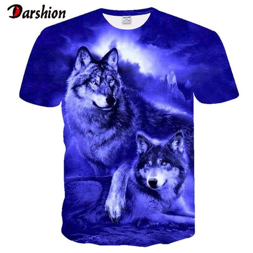Hot Sale Men's T-shirts 3D Printed Popular Top Wolf Pattern - For Men