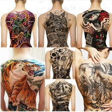 Load image into Gallery viewer, Large Wolf, tiger, Dragon waterproof temporary flash tattoos cool men women