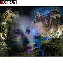 "Load image into Gallery viewer, 5D ""Woman wolf"" Diamond Painting - Home Art Decoration"