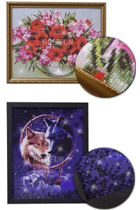 "5D ""Woman wolf"" Diamond Painting - Home Art Decoration"