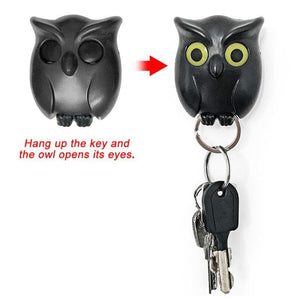 1 PCS Owl Night Wall Magnetic Key Holder