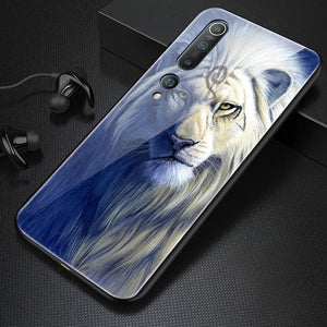 Luxury Tiger, Wolf, Lion Tempered Glass - Phone Case For Xiaomi Mi 10 9 8 Lite SE T Pro F1 Redmi Note 8 7 6 5 Plus