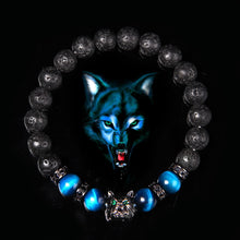 Load image into Gallery viewer, Wolf Charm Bracelets Natural Black - Elastic - For Woman and Men