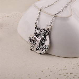 Wolf Pendant Vintage - Silver Color New - For Men