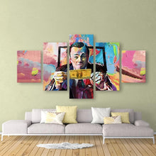 Load image into Gallery viewer, Graffiti Canvas Paintings The Wolf of Wall Street - 5 Pieces Print Wall