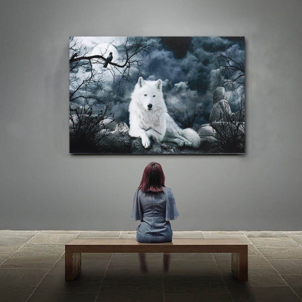 Wolf Painting Canva - Posters PrintsWolf Art - Home Decoration
