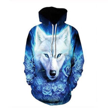 Load image into Gallery viewer, Boys Sweatshirts - Wolf Series pullover animals long sleeve hoodies girls tops thin hoodie