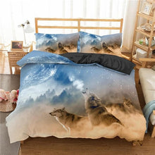 Load image into Gallery viewer, Homesky 3D Wolf Bedding Set - For Kids and Adult Beautiful Animal Style