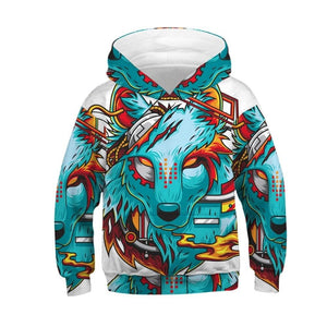 Wolf Tiger 3D - For Kids/Boys - Spring/Autumn