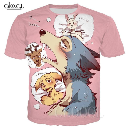 Cartoon Anime BEASTARS T-Shirts Tee Harajuku Sweatshirts -For Men And Women