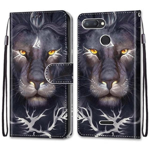 Phone Case For Xiaomi Redmi 6 6A 7 7A - Flip Case Leather Cat Wolf And Others